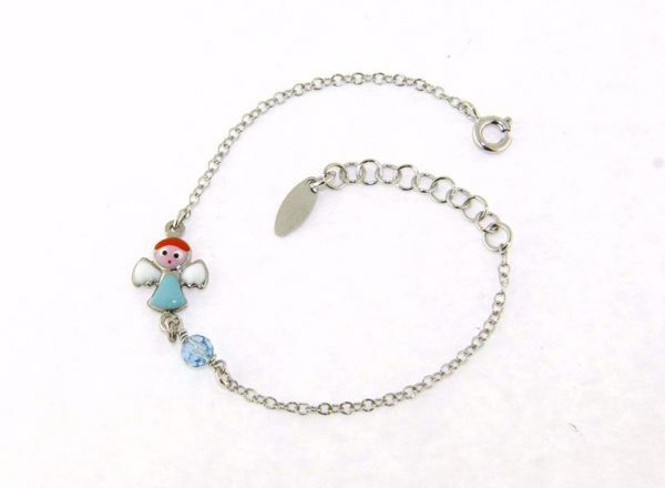 Picture of Bracelet Guardian Angel Silver 925  Enamel and blue pearl