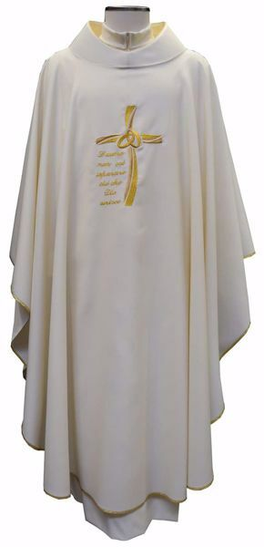 Picture of Sacrament Chasuble WEDDING in pure Polyester Ivory Chorus