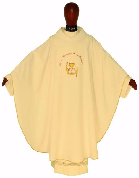 Picture of Sacrament Chasuble PIESTHOOD in pure Polyester Ivory Chorus