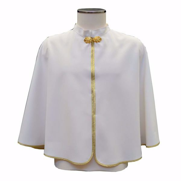 Picture of Confraternity Cloak cm 60 (23,6 inch) in pure Polyester Ivory Red Green Purple Light Blue Chorus