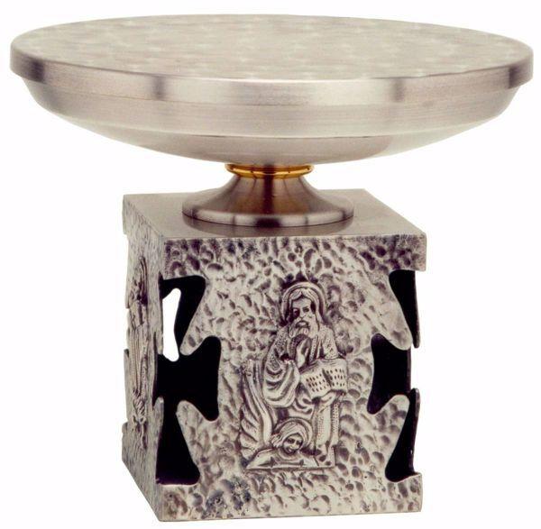 Immagine di Tronetto Base per Ostensorio da Altare H. cm 17 (6,7 inch) Quattro Evangelisti in bronzo Oro Argento
