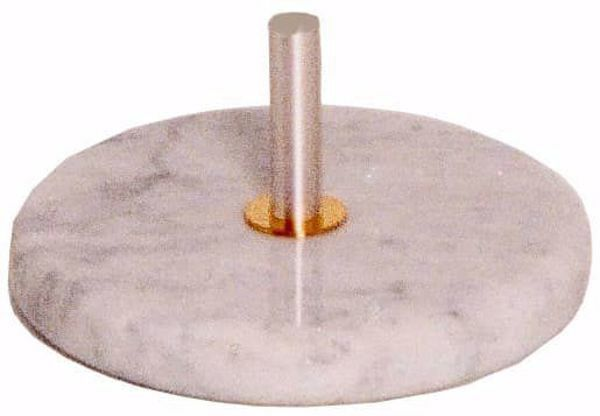 Picture of Processional Cross Stand Diam. cm 30 (11,8 inch) round base in Carrara marble Silver Church Crucifix Holder