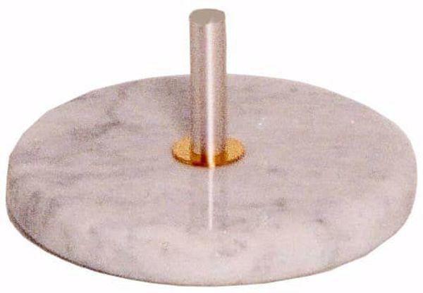 Immagine di Base per Croce processionale Diam. cm 30 (11,8 inch) Base tonda in marmo di Carrara Argento Portacroce astile processione