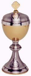 Picture of Liturgical Ciborium H. cm 19,5 (7,7 inch) with central Knot in brass Gold Silver