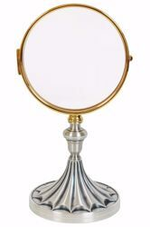 Picture of Eucharistic Shrine Monstrance for Magna Host cm 15 (5,9 in) H. cm 30 (11,8 inch) decorated base in brass Gold Silver