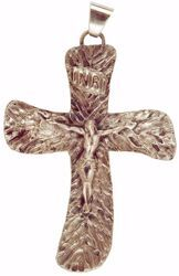 Picture of Episcopal pectoral Cross cm 10x7,5 (3,9x3,0 inch) Christ Crucified in brass Gold Silver Bishop's Cross