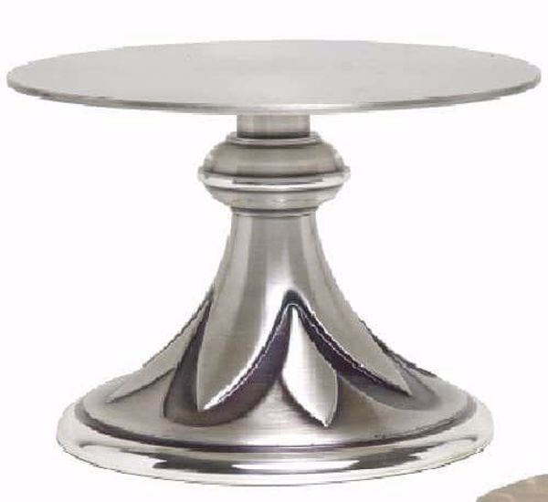 Immagine di Tronetto Base per Ostensorio da Altare H. cm 8,5 (3,3 inch) Petali in ottone Oro Argento
