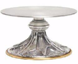 Immagine di Tronetto Base per Ostensorio da Altare H. cm 7 (2,8 inch) Raggi di luce stilizzati in ottone Oro Argento