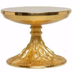 Immagine di Tronetto Base per Ostensorio da Altare H. cm 15 (5,9 inch) Raggi di luce stilizzati in ottone Oro Argento