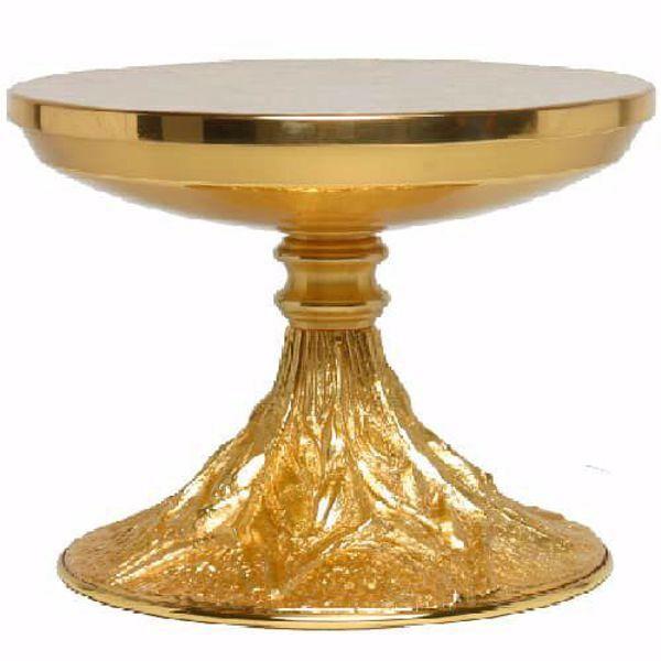 Imagen de Tabor base para Custodia Trono de Altar H. cm 15 (5,9 inch) Rayos de Luz estilizados de latón Oro Plata