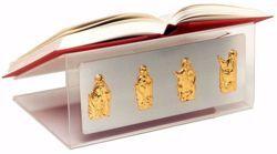 Imagen de Atril portátil de Altar Iglesia cm 35x27x16 (13,8x10,6x6,3 inch) Evangelistas plexiglás Bicolor de mesa para Misal Biblia Textos Sagrados