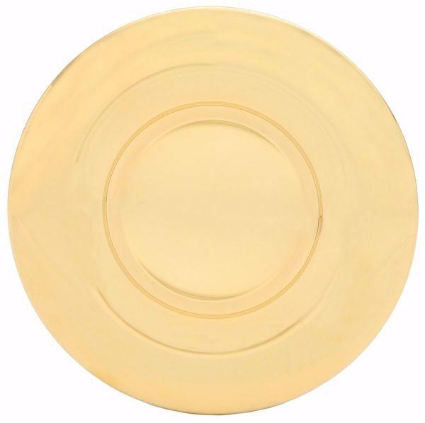 Imagen de Patena Eucarística Diam. cm 18,5 (7,3 inch) acabado brillante de Plata 800/1000 Oro