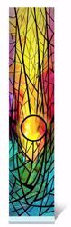 Imagen de Pequeña vidriera Sol Naciente Coloreada cm 18x4 (7,5x1,6 inch) Decoración in plexiglass Ceramica Centro Ave Loppiano