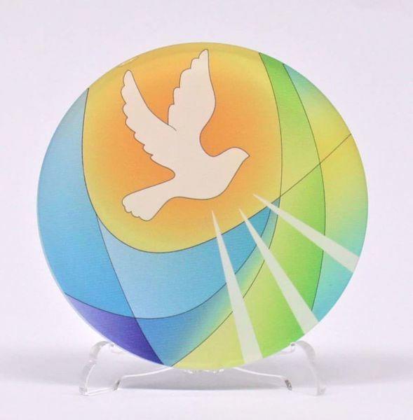 Immagine di Tondo Cresima Colorato cm 10 (3,9 inch) in plexiglass Ceramica Centro Ave Loppiano