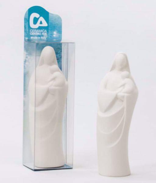 Imagen de Madonna con Niño cm 10,5 (4,1 inch) Escultura de mesa de terracota Cerámica Centro Ave Loppiano
