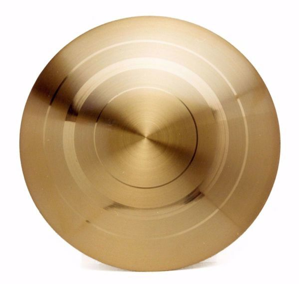Picture of Eucharistic Paten Diam. cm 14/15/16 (5,5/5,9/6,3 inch) smooth and satin finish in 800/1000 Silver Gold