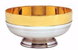 Imagen de Patena Copón Eucarística H. cm 6 (2,5 inch) acabado liso satinado de latón Oro Plata