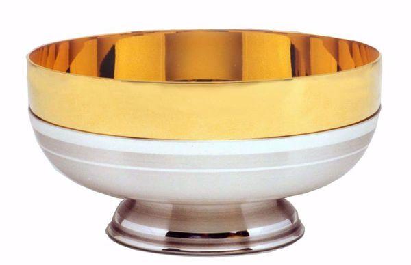 Immagine di Patena Pisside liturgica H. cm 6,5 (2,7 inch) finitura liscia satinata in ottone Oro Argento