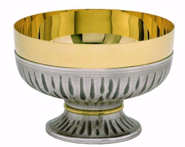 Immagine di Patena Pisside liturgica H. cm 8,5 (3,3 inch) con Nodo Oro in ottone cesellato Oro Argento