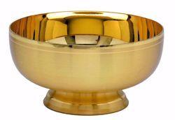 Imagen de Patena Copón Eucarística H. cm 6 (2,5 inch) acabado liso satinado de latón Oro