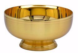 Picture of Liturgical Paten Ciborium H. cm 6,5 (2,7 inch) smooth satin finish in brass Gold