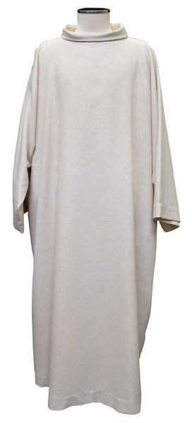 Picture of Simple Monastic Liturgical Alb in Hemp and Linen blend Ecru Ivory Chorus
