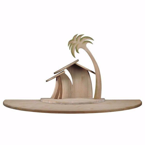 Imagen de Establo Familia Cometa con ampliación cm 10 (3,9 inch) para Belén artesanal Cometa de madera Val Gardena