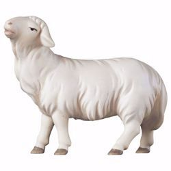 Picture of Sheep looking forward cm 10 (3,9 inch) hand painted Saviour Nativity Scene Val Gardena wooden Statue traditional style