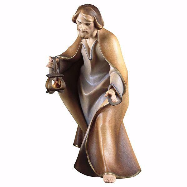 Immagine di San Giuseppe cm 10 (3,9 inch) Presepe Redentore dipinto a mano Statua artigianale in legno Val Gardena stile tradizionale