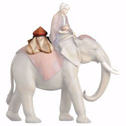 Picture of Juwels Saddle for standing Elephant cm 10 (3,9 inch) hand painted Saviour Nativity Scene Val Gardena wooden Statue traditional style