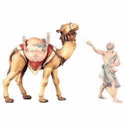 Picture of Standing Camel cm 12 (4,7 inch) hand painted Ulrich Nativity Scene Val Gardena wooden Statue baroque style