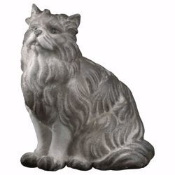 Picture of Sitting Cat cm 12 (4,7 inch) hand painted Ulrich Nativity Scene Val Gardena wooden Statue baroque style