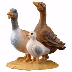 Picture of Group of ducks cm 12 (4,7 inch) hand painted Ulrich Nativity Scene Val Gardena wooden Statue baroque style