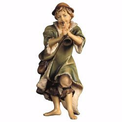 Picture of Herder with Trumpet cm 12 (4,7 inch) hand painted Ulrich Nativity Scene Val Gardena wooden Statue baroque style