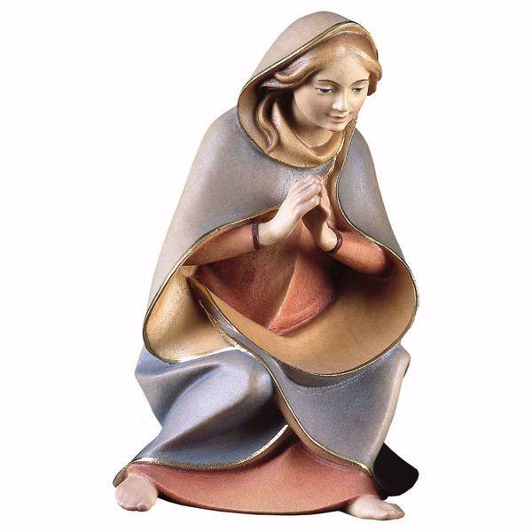 Immagine di Madonna / Maria cm 12 (4,7 inch) Presepe Redentore dipinto a mano Statua artigianale in legno Val Gardena stile tradizionale