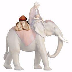 Imagen de Sillín Joyas para Elefante de pie cm 12 (4,7 inch) Belén Redentor pintado a mano Estatua artesanal de madera Val Gardena estilo tradicional