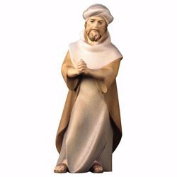 Picture of Praying Herder cm 16 (6,3 inch) hand painted Comet Nativity Scene Val Gardena wooden Statue traditional Arabic style