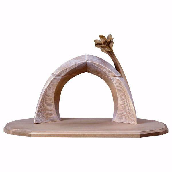 Imagen de Establo Familia Recorva cm 16 (6,3 inch) para Belén artesanal Redentor de madera Val Gardena