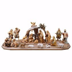 Picture of Saviour Nativity Set 25 Pieces cm 16 (6,3 inch) hand painted Val Gardena wooden Statues