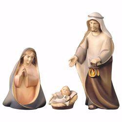 Immagine di Sacra Famiglia 4 Pezzi cm 25 (9,8 inch) Presepe Cometa dipinto a mano Statue artigianali in legno Val Gardena stile Arabo tradizionale