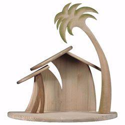 Imagen de Establo Familia Cometa cm 25 (9,8 inch) para Belén artesanal Cometa de madera Val Gardena