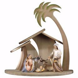 Picture of Comet Nativity Set 7 Pieces cm 25 (9,8 inch) hand painted Val Gardena wooden Statues