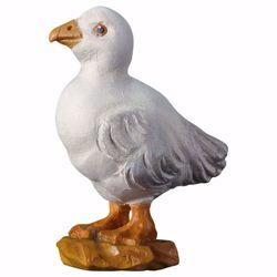 Picture of Duckling cm 23 (9,1 inch) hand painted Ulrich Nativity Scene Val Gardena wooden Statue baroque style