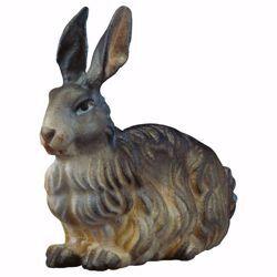 Immagine di Coniglio cm 23 (9,1 inch) Presepe Ulrich dipinto a mano Statua artigianale in legno Val Gardena stile barocco