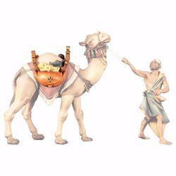 Immagine di Sella per cammello in piedi cm 23 (9,1 inch) Presepe Ulrich dipinto a mano Statua artigianale in legno Val Gardena stile barocco