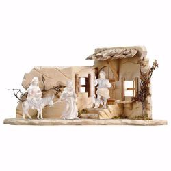 Picture of Harborage cm 23 (9,1 inch) hand painted Ulrich Nativity Scene Val Gardena wooden Statue baroque style