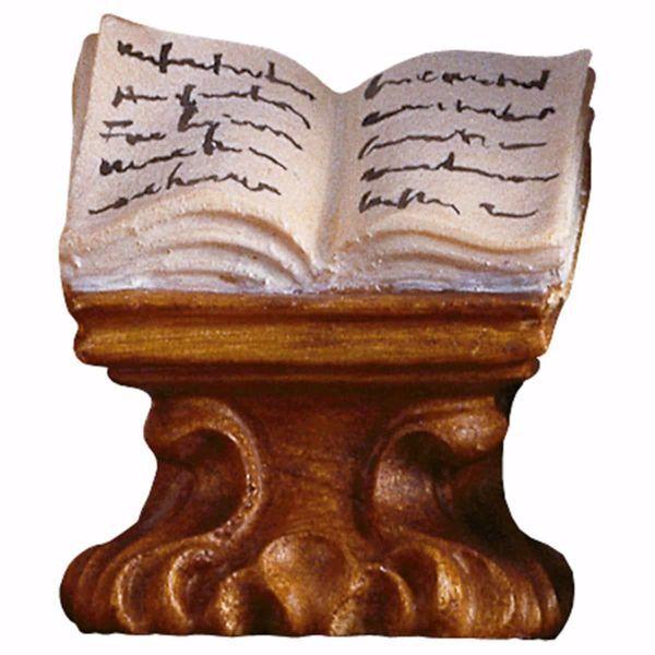 Immagine di Libro su mensola cm 10 (3,9 inch) Presepe Ulrich dipinto a mano Statua artigianale in legno Val Gardena stile barocco