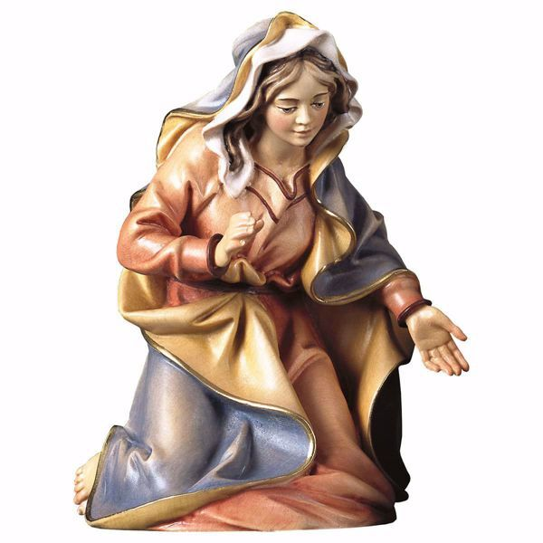 Immagine di Madonna / Maria cm 8 (3,1 inch) Presepe Ulrich dipinto a mano Statua artigianale in legno Val Gardena stile barocco