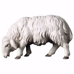 Picture of Sheep eating cm 8 (3,1 inch) hand painted Ulrich Nativity Scene Val Gardena wooden Statue baroque style