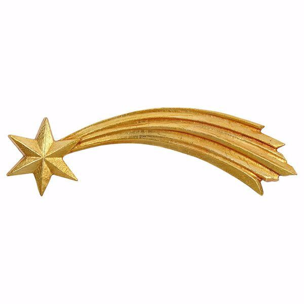 Imagen de Estrella Cometa cm 8 (3,1 inch) Belén Ulrich pintado a mano Estatua artesanal de madera Val Gardena estilo barroco